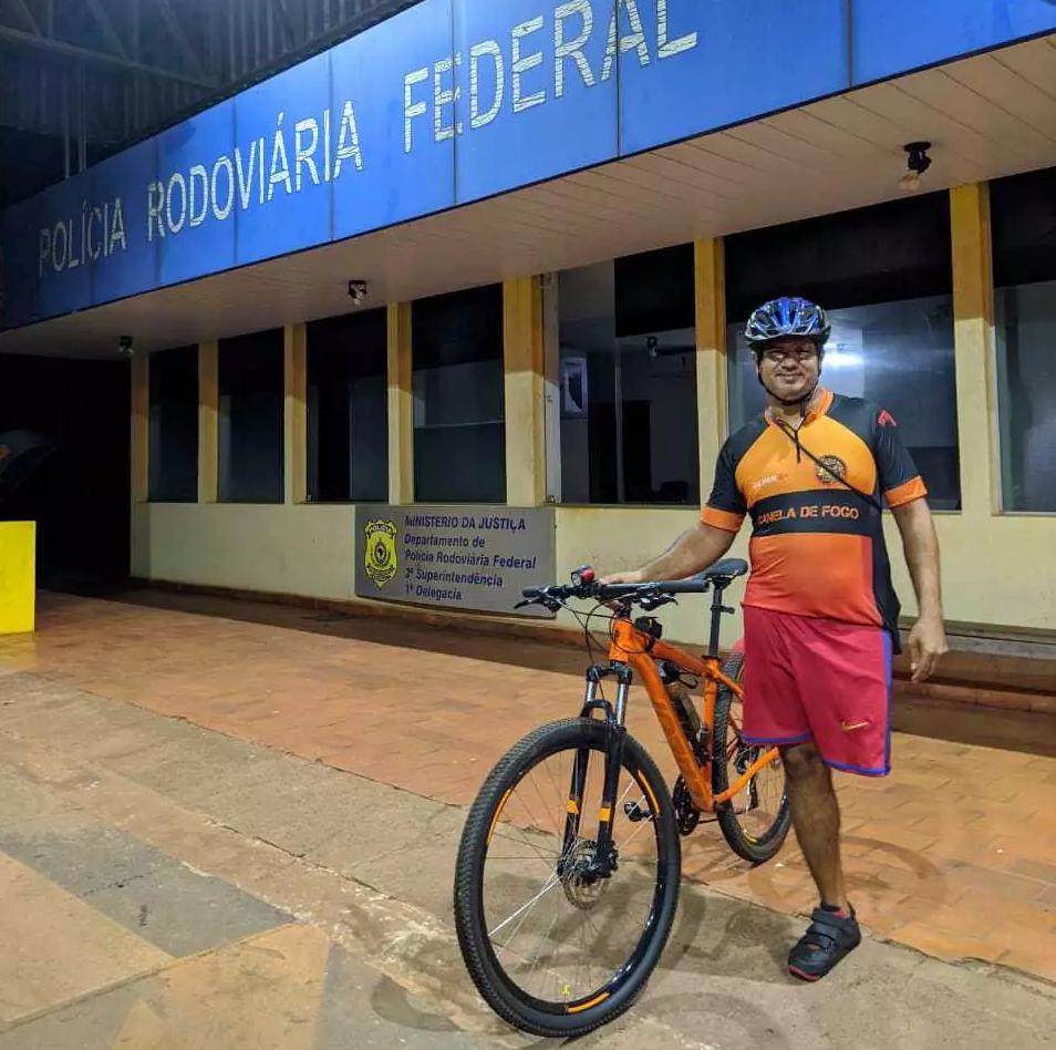 O ciclista pedala cinco dias na semana (Foto: Arquivo Pessoal)