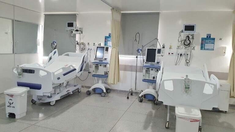 Leito de terapia intensiva em hospital na Capital (Foto: Reprodução/Prefeitura)