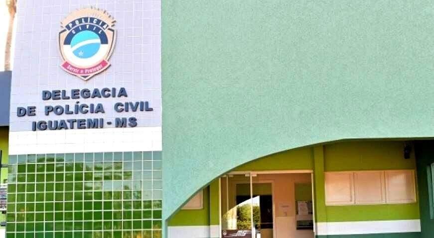 O autor foi levado para a Delegacia de Polícia Civil de Iguatemi. (Foto: Reprodução)