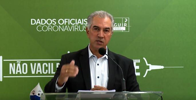 Governador Reinaldo Azambuja anunciou mudança em live esta manhã (Foto/Reprodução)