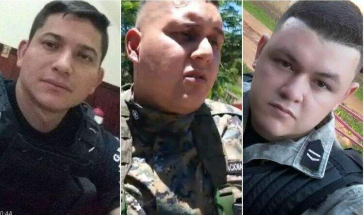 Os três policiais paraguaios acusados de extorsão na fronteira (Foto: ABC Color)