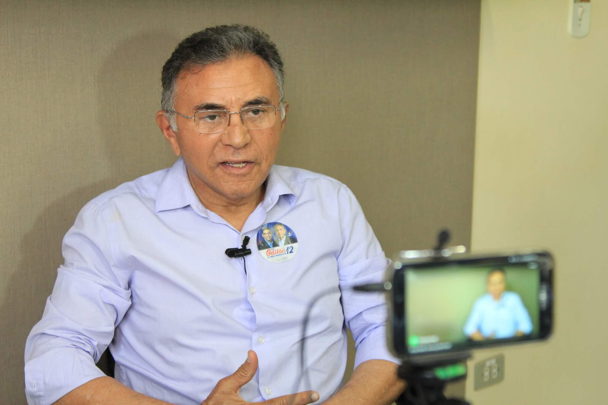 Odilon foi candidato do PDT a governador de Mato Grosso do Sul em 2018. (Foto: Marina Pacheco/Arquivo)