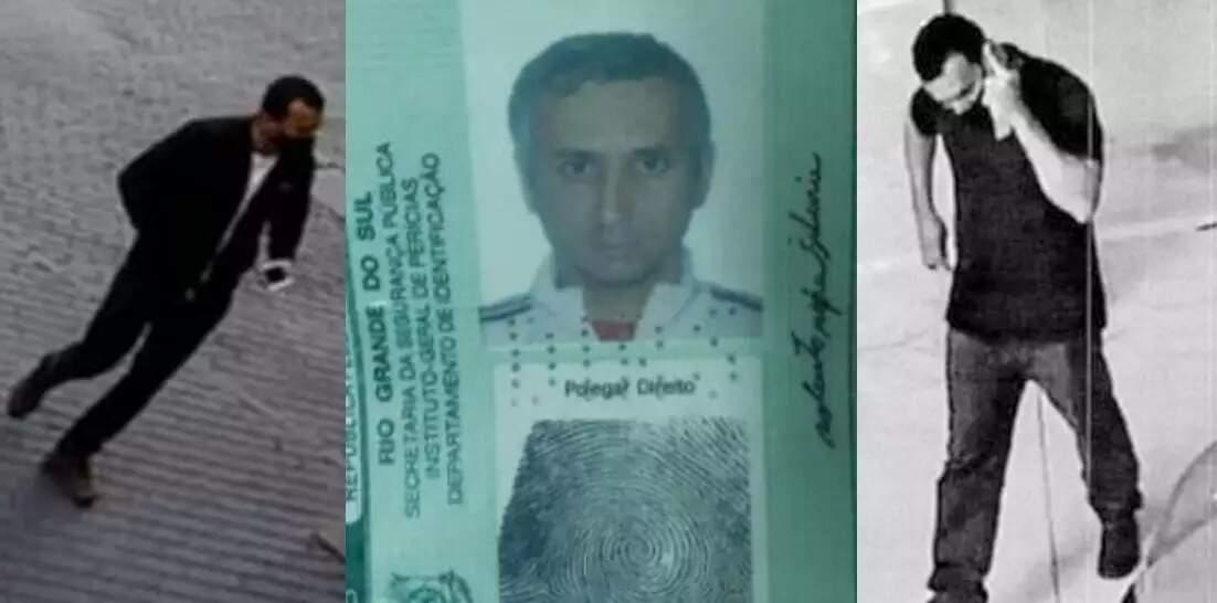 Robertinho, em imagens colhidas por câmeras de investigação durante dois furtos atribuídos ao grupo e na carteira de identidade. (Foto: Reprodução de processo)
