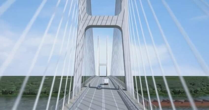 Projeto de ponte sobre o Rio Paraguai (Foto: Divulgação/Governo do Estado)