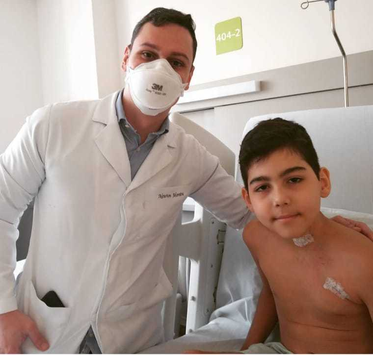 Registro feito ao lado de um médico em hospital da Capital (Foto: Arquivo Pessoal)