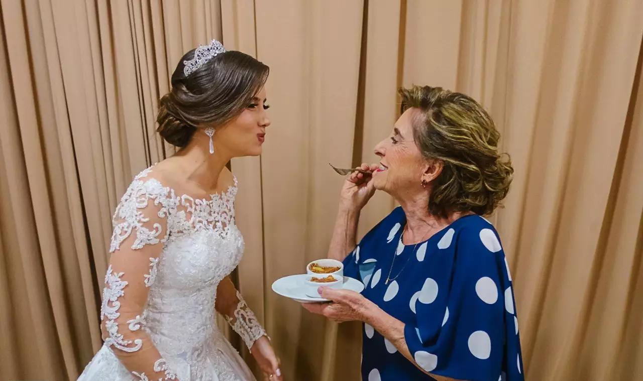Receita de nhoque italiano da Vó Mariquinha não podia faltar no casamento (Foto: Rapha Domingues)