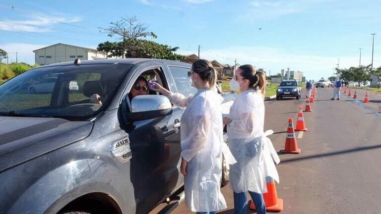 Barreira sanitária foi reinstalada depois de intervalo de 8 meses na Capital (Foto/Divulgação)
