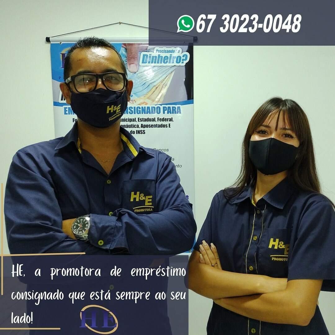 Equipe HE Promotora está à disposição dos clientes também pelo WhatsApp. (Foto: Divulgação)