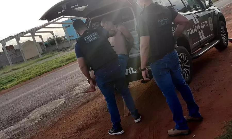 Homem foi preso em flagrante por três crimes (Foto: Divulgação/PCMS)