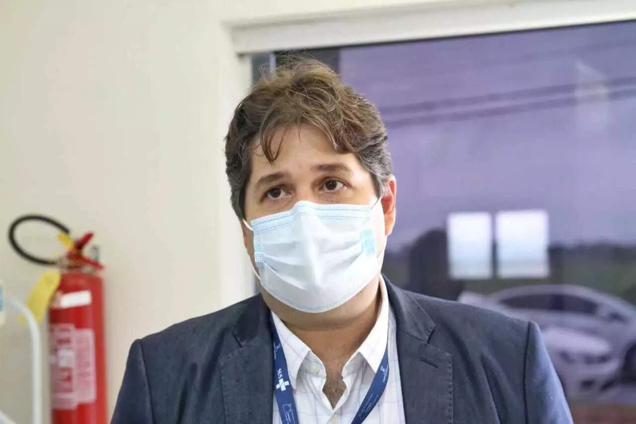Secretário José Mauro Filho durante entrevista (Foto: Paulo Francis/Arquivo)