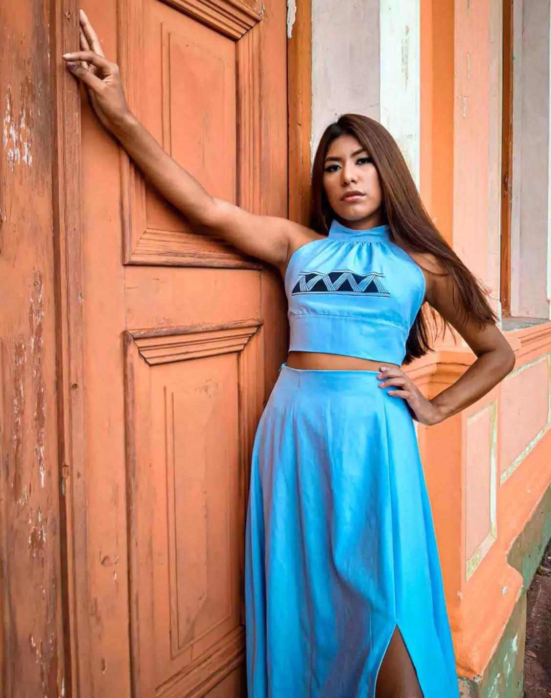 Coleção de roupa inspirada na arte indígena terena (Foto: Edenilson Delgado)