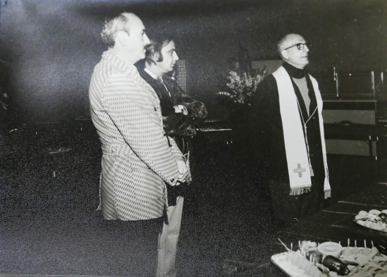Até missa de inauguração a Ponteio recebeu para que os trabalhos fossem iniciados na década de 70 (Foto: Arquivo Pessoal)