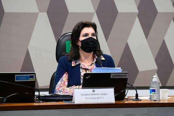 Simone, durante audiência da Comissão de Constituição e Justiça do Senado (Foto: Agência Senado)