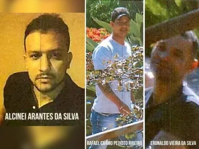 Alcinei, Rafael e Eronaldo haviam sido soltos, com tornozeleira eletrônica, em agosto de 2020. (Foto: Reprodução de processo)