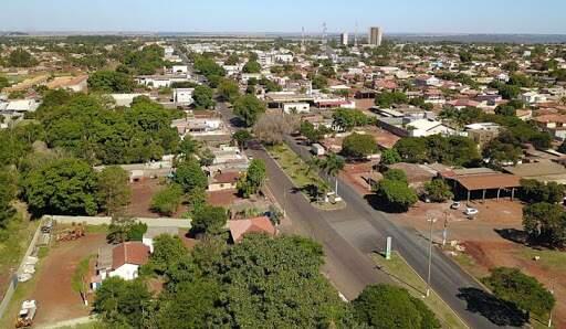 Vista aérea de Sidrolândia. (Foto: Divulgação)
