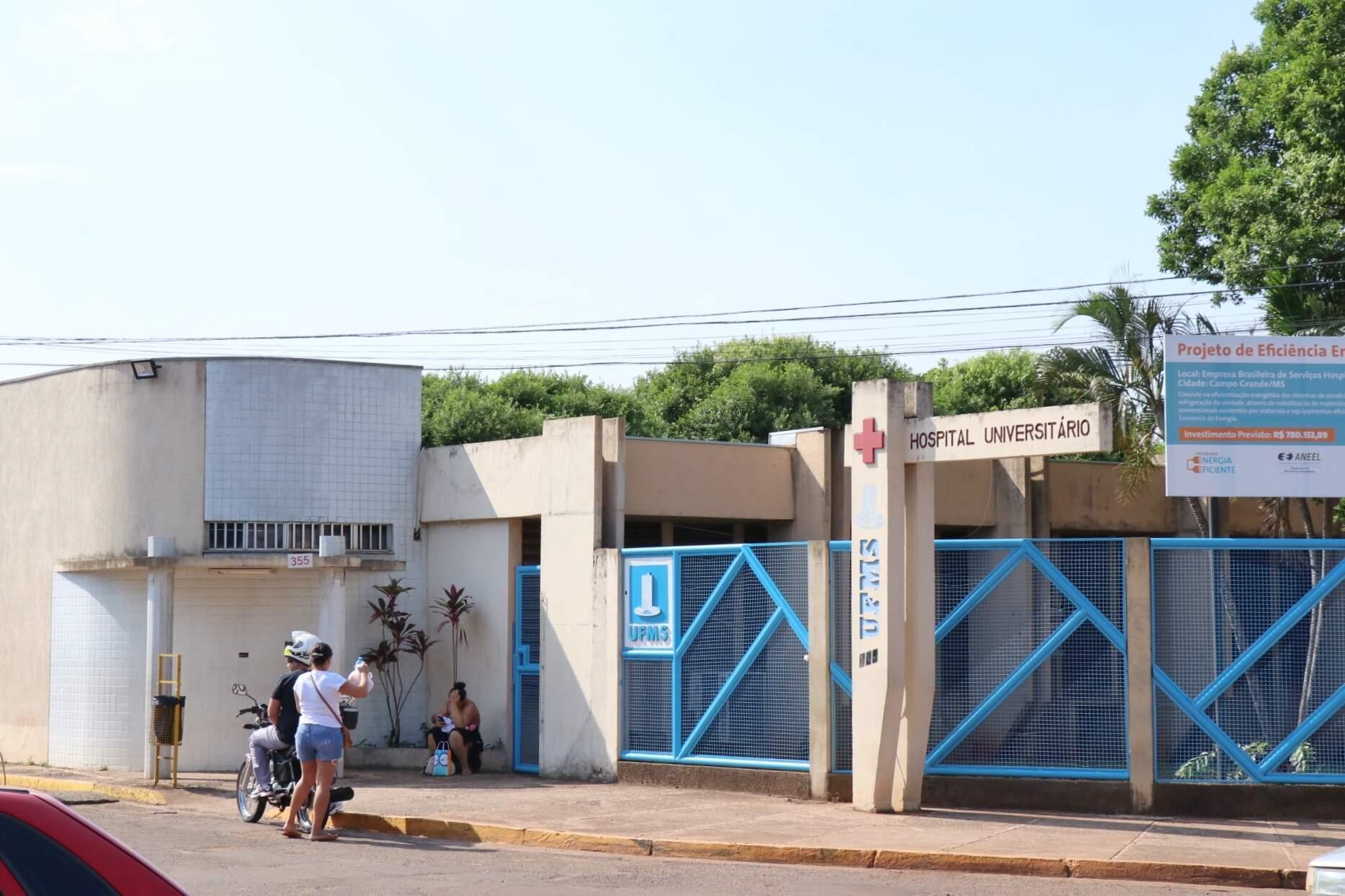 Hospital Universitário na UFMS, em Campo Grande (Foto: Henrique Kawaminami/Arquivo)