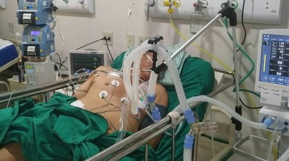 Paciente com covid-19 entubado em UTI. (Foto: Arquivo)
