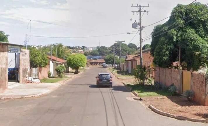 Rua onde briga terminou em morte, no último sábado, no Bairro Marcos Roberto (Foto Google StreatVew)