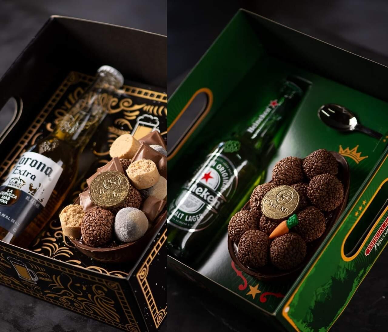 Para os adultos, kits com bebidas alcoolicas são um sucesso. (Foto: Pedro Shimith Fotografia)