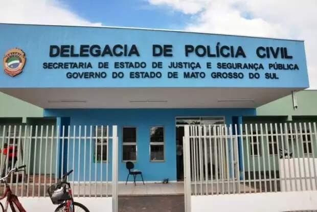 Fachada da Delegacia de Polícia Civil de Costa Rica (Foto: Costa Rica em Foco)