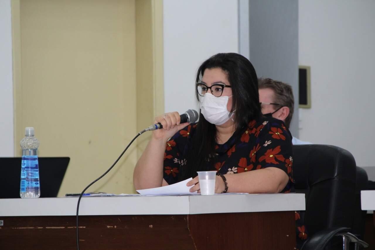 A prefeita de Naviraí, Rhaiza Matos (PSDB). (Foto: Roney Minella)