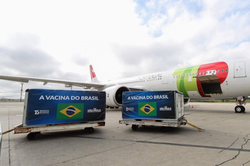 Por enquanto a maior torcida é pelo movimento de chegada de vacinas nos aeroportos do Brasil (Foto: Reprodução)