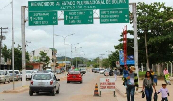 Fronteira de Corumbá com a Bolívia (Foto: Divulgação\Governo do Estado)