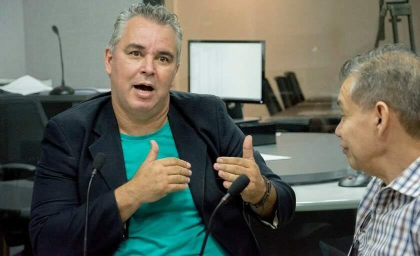 Denilson Pinto em entrevista à rádio CBN. (Foto: Jade Amorim/ReproduçãoCBN)