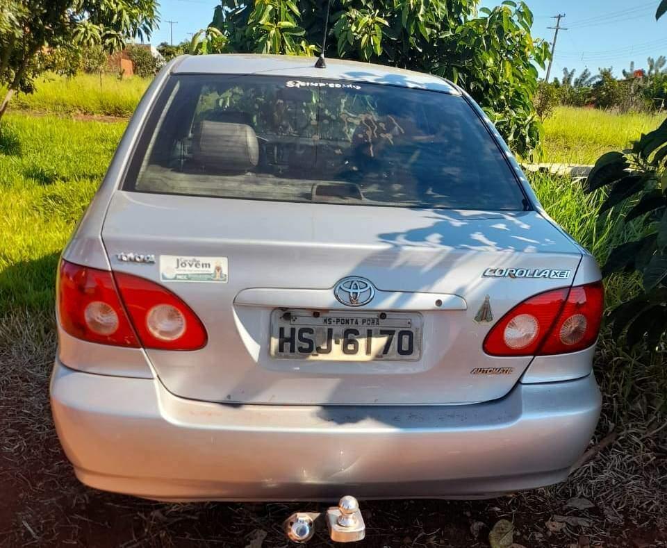 Corolla ano 2007 foi apreendido pela polícia paraguaia em Pedro Juan (Foto: Direto das Ruas)