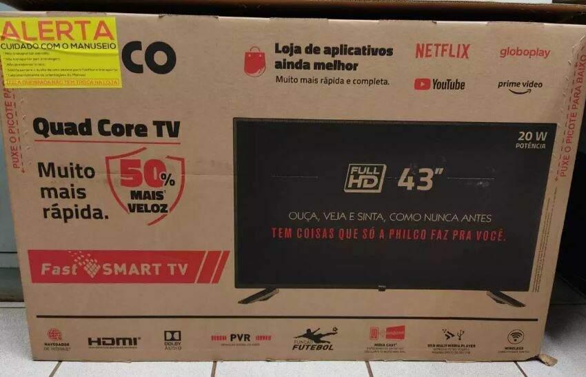 TV comprada por Luiz depois de ser identificado pelas vítimas.