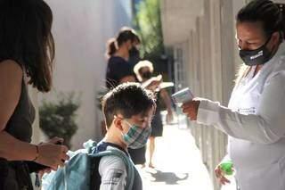No Harmonia, direção afirma que aula presencial segue como maioria na escolha das famílias. (Foto: Arquivo/Marcos Maluf)