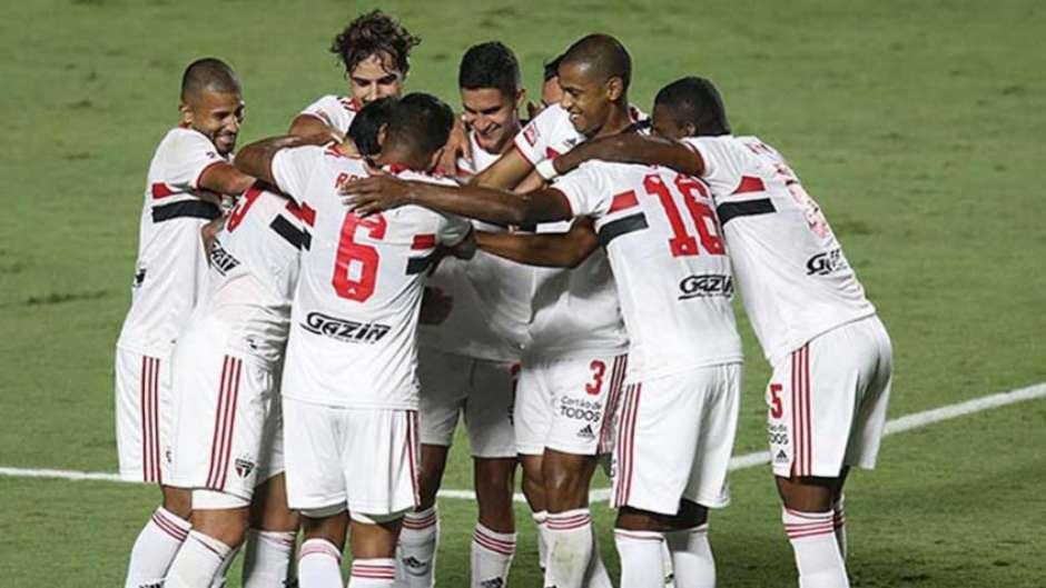 São Paulo fez uma grande partida e goleou o São Caetano (Foto: Twitter / São Paulo)
