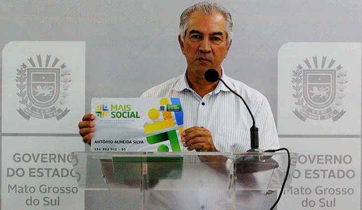 Governador Reinaldo Azambuja no dia do lançamento do Programa. (Foto: Reprodução Facebook)