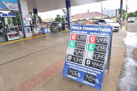 Reajustes de 3,7% no diesel e 1,9% na gasolina entram em vigor nesta sexta