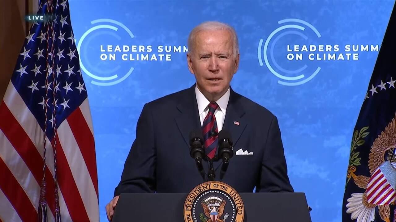 Presidente dos Estados Unidos, Joe Biden, durante Cúpula de Líderes sobre o Clima (Foto: Reprodução)