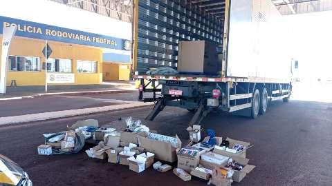 Segundo carregamento de contrabando é aprendido em caminhão dos Correios
