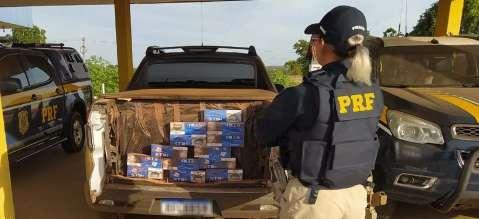 Contrabandista é preso com 25 mil maços de cigarros do Paraguai