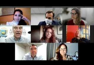 Reunião com integrantes do projeto Bonito Não Atropela ocorreu nesta semana de forma virtual com presidente da Assembleia Paulo Corrêa (PSDB) e secretário de Estado de Infraestrutura e Obras, Eduardo Riedel (Foto Reprodução)