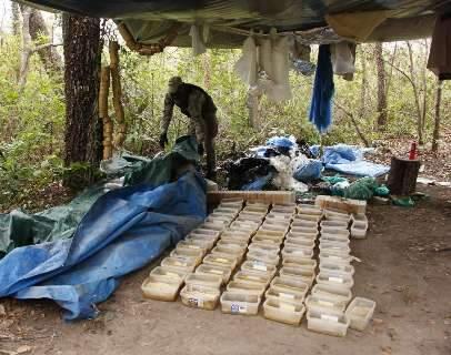 Produzida em acampamento, cocaína saia de avião do meio da floresta