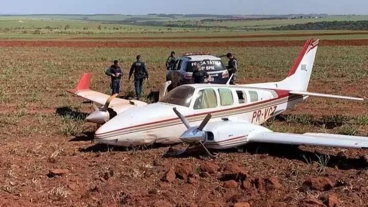 Aeronave interceptada em Ivinhema (Foto: Jornal da Nova/Arquivo)
