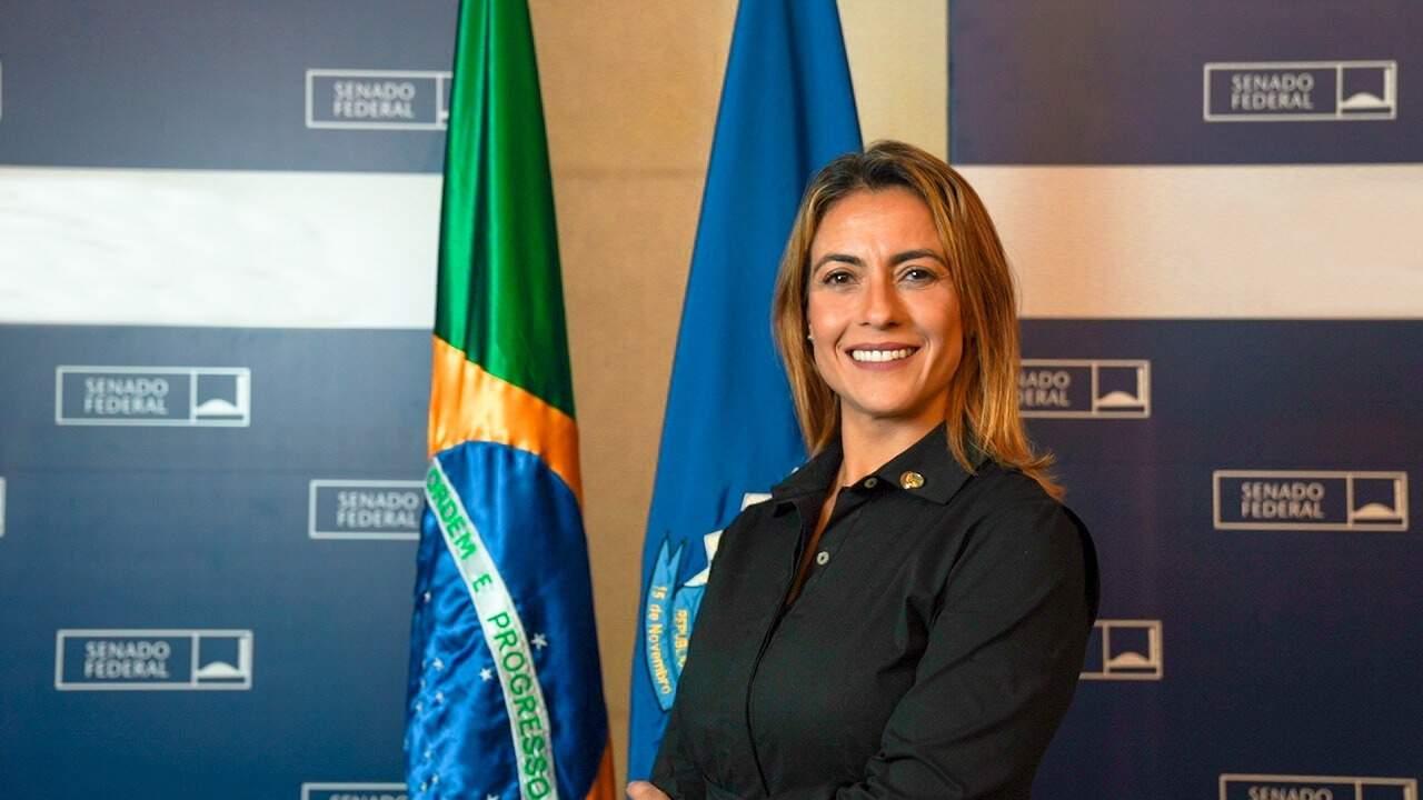Senadora Soraya Thronicke (PSL-MS), uma das principais apoiadoras de Bolsonaro. (Foto: Divulgação)