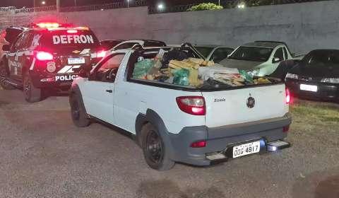 Após perseguição por 233 km, três são presos na Capital com carga de maconha