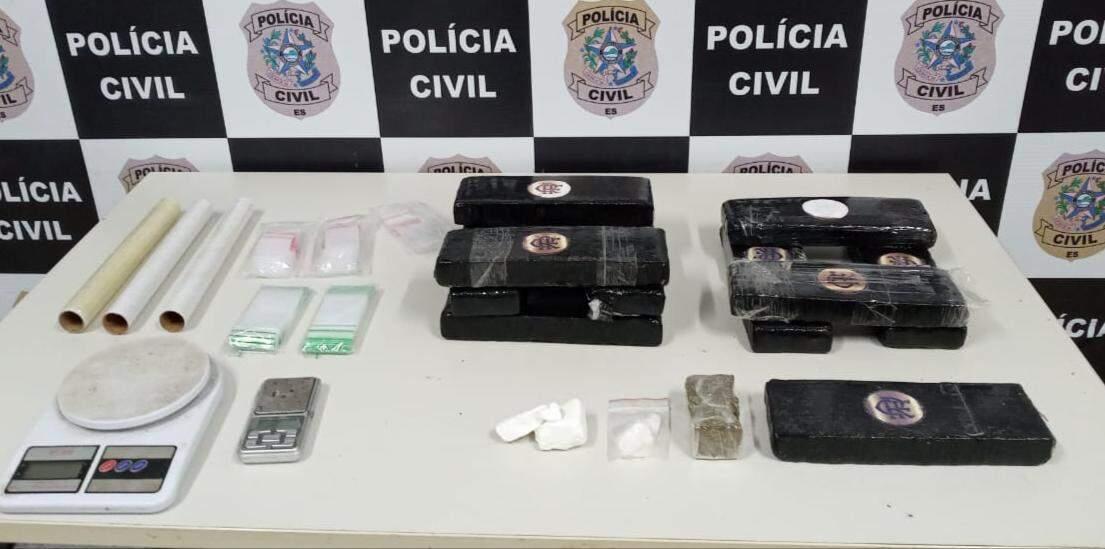 Drogas recebidas pelos Correios foram apreendidas durante operação interestadual. (Foto: Divulgação/PC)