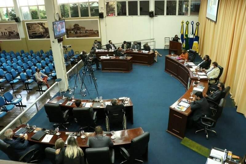 Câmara de Vereadores de Dourados, onde 80% dos servidores são comissionados (Foto: Divulgação)