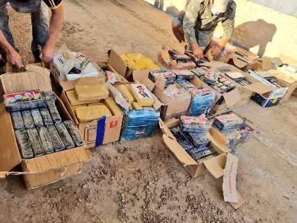 Caminhão com alimentos transportava quase meia tonelada de cocaína