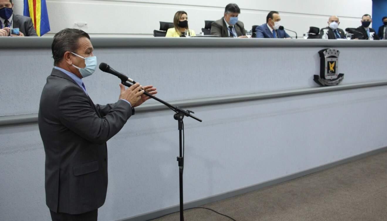 Proposta é de autoria do vereador Delei Pinheiro (PSD) (Foto: Divulgação/Câmara de Vereadores)