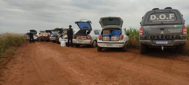 Comboio do contrabando transportava de celular chinês a parafusos
