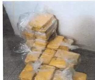 Parte da droga desviada de delegacia em Aquidauana. (Foto: Reprodução de processo)