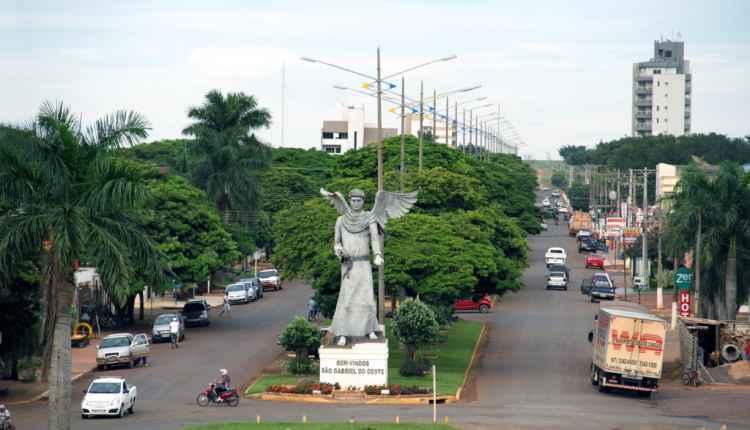 Entrada da cidade de São Gabriel do Oeste (Foto: Divulgação)