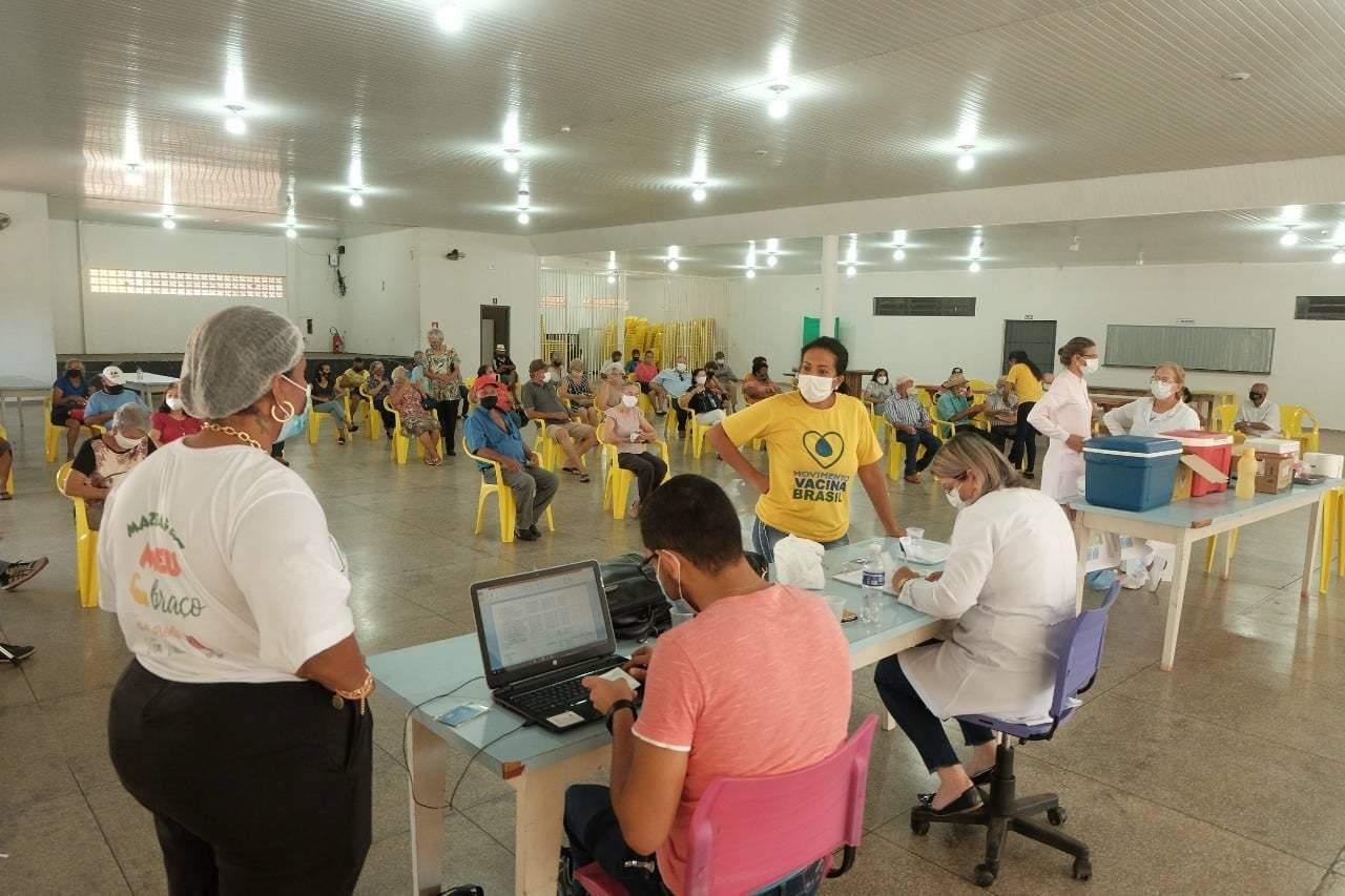 Local onde a vacinação contra a covid-19 é realizada em Mundo Novo. (Foto: Divulgação Prefeitura)